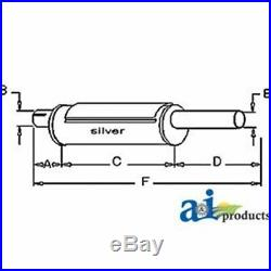 155981A Oliver Muffler for Models 1900, 1950 (With GM DIESEL SN 124396)