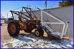 1950s Minneapolis Moline Tractor, Propane, with high lift loader for restoration