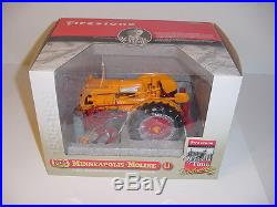 1/16 Minneapolis Moline U High Detail Tractor WithCultivator NIB Firestone Edition