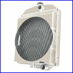 3 Row Aluminum Oliver Tractor Radiator For Model1550 1555 1600 1650 1655