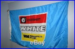 Antique COCKSHUTT WHITE MINNEAPOLIS MOLINE flag tractor advertising
