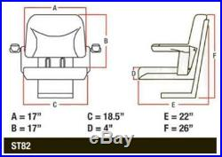 BBS108BL New Big Boy Seat with Armrest Black For Case-IH Tractors
