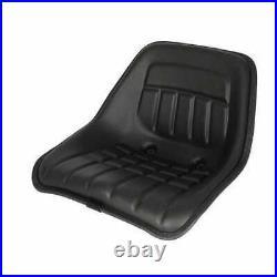 Bucket Seat Vinyl Black Compatible with International Allis Chalmers Bobcat