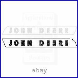 Compatible With John Deere Tractor Side Hood Molding LH RH Raised Letters AR2804