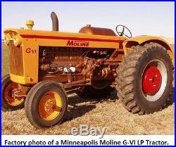 G-VI Minneapolis Moline LP Tractor Propane GVI Pulling 705 706 G-707 708 G900