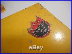 L1018 Vintage Longenecker Farm Supply Tractor Tool Box Minneapolis Moline Dealer