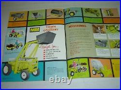 Minneapolis Moline 1965 108 & 110 Garden Tractor & Attachment Brochure Catalog