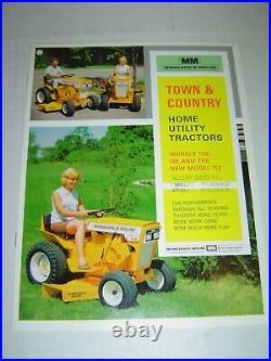 Minneapolis Moline 1966 108 110 112 Garden Tractor & Attachment Brochure Catalog