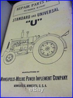 Minneapolis-Moline 7 Tractors Parts Lists