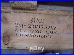 Minneapolis Moline Crankshaft G1355 2270 G955 1870 425C 504A gas 451 Diesel NOS