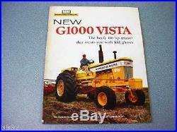 Minneapolis Moline G1000 Vista Farm Tractor Brochure 1967