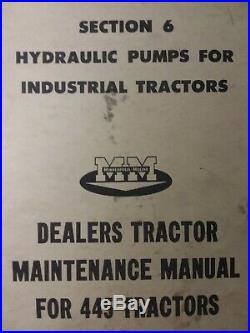Minneapolis Moline MM 445 Farm Tractor Major Overhaul Repair Service Manual