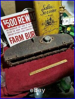 Minneapolis Moline Tractor cast iron radiator top Vintage steampunk Repurpose