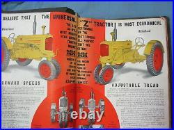 Minneapolis Moline Tractors & Farm Machinery Sales Manual 1938 UDLX Z Twin City