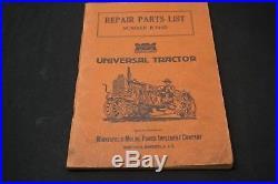 Minneapolis-Moline Universal Tractor Repair Parts List Number R744D OEM