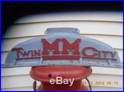 Minneapolis Moline farm tractor upper radiator by TWIN CITY, restore, steam punk