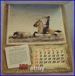 ORIGINAL 1945'MINNEAPOLIS-MOLINE' Tractor FARM CalendarF. MOLINA CAMPOS Art