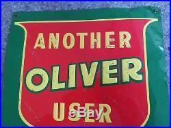 Oliver Embossed Tin Sign Farm Tractor White Minneapolis Moline Oil Gas Barn Art