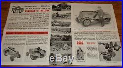 Original 1941 Minneapolis-Moline Orchard J Tractor Foldout Sales Brochure
