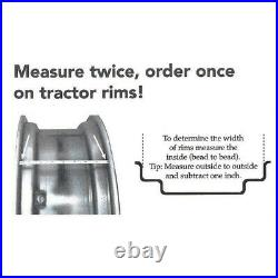RW09286 Tractor Rim 9 x 28 Rear 6 Lug Universal Rim Fits Several Models