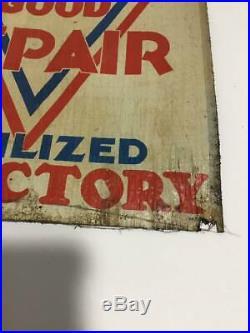 Rare Original 1942 WW II Minneapolis Moline Mobilized for Victory sign tractor