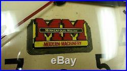 Rustic Minneapolis Moline Tractor NEBRASKA, Modern Machinery, Tractor Clock