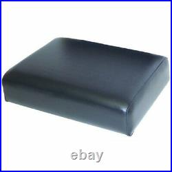 Seat Cushion Wood Backed Vinyl Black Compatible with John Deere 830 820 720 730