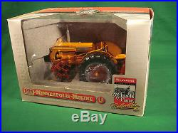 SpecCast Minneapolis Moline U MM Tractor +CQ 2-Row Cultivator FIRESTONE Detailed