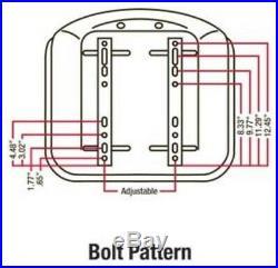 TMS444BL Seat with Slide Track fits Case IH Bobcat Yanmar Skid Steer
