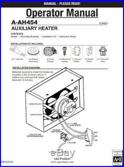 Universal Cab Heater 12V Tractors