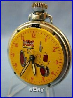 VINTAGE 1950's MINNEAPOLIS MOLINE TRACTOR ADVERTISING POCKET WATCH RARE