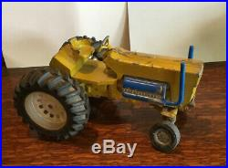 Vintage Ertl Yellow Minneapolis Moline Puller, Toy Pulling Tractor, Real Neat
