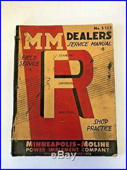 Vintage Minneapolis Moline Model R Tractor Dealer Service Manual