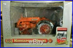 Vintage Minneapolis-Moline U Tractor with QC 2 Row Cultivator By SpecCast, NIB