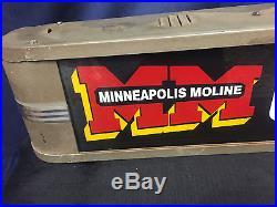 Vintage Original Minneapolis Moline Genuine Tractor Parts Lit Advertising Sign